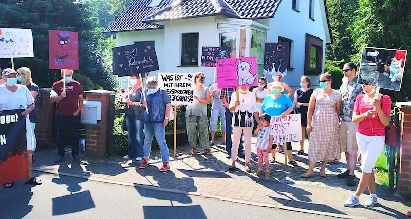 60 TeilnehmerInnen bei Demo in Westenbrügge